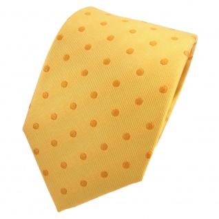 TigerTie Designer Seidenkrawatte gelb sonnengelb gepunktet - Krawatte Seide Silk