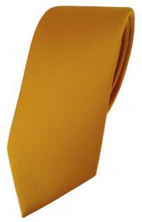 TigerTie Designer Krawatte in orange gelborange einfarbig Uni - Tie Schlips