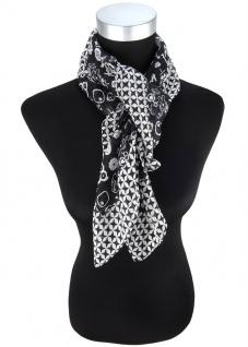 Halstuch grau schwarz mit vielen kleinen Motiven und Sternen - Gr. 100 x 100 cm