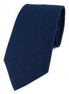 TigerTie Designer Krawatte in marine Uni - 100% Baumwolle - Krawattenbreite 8 cm