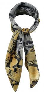 TigerTie Damen Nickituch Halstuch gold anthrazit schwarz silber Schlangenmuster