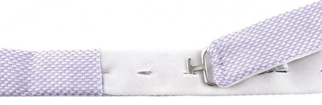 TigerTie Kleinkinder Baby Fliege in flieder gemustert mit Sichtband + Tuch + Box - Vorschau 2