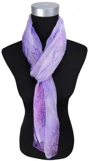 TigerTie sehr feiner Chiffon Schal in lila violett gemustert - Größe 175 x 55 cm