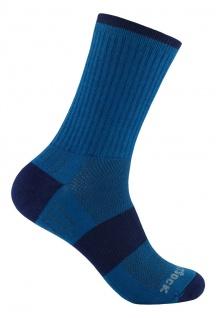 WRIGHTSOCK Laufsocke Wandersocke -anti-blasen-system- lange azur blau Socke Gr.L