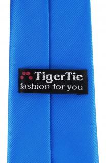 XXL TigerTie Security Sicherheits Krawatte in himmelblau hellblau einfarbig Uni - Vorschau 3