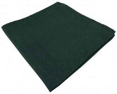 feines Seideneinstecktuch in grün tannengrün Uni - Einstecktuch 100% pure Seide