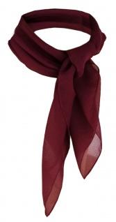 TigerTie Damen Chiffon Nickituch bordeaux Gr.50 cm x 50 cm - Tuch Halstuch Schal