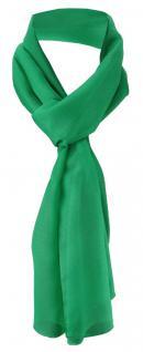 TigerTie Damen Chiffon Halstuch grün leuchtgrün Uni Gr. 160 cm x 36 cm - Schal