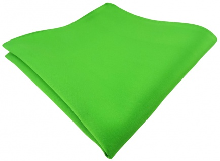 Tuch 100/% Polyester TigerTie sch/önes Einstecktuch gr/ün leuchtgr/ün einfarbig