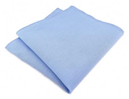 TigerTie Einstecktuch in hellblau uni - 100% Baumwolle - Einstecktuch 26 x 26 cm