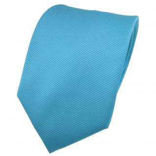 TigerTie Designer Krawatte türkis türkisblau Uni Rips - Binder Tie