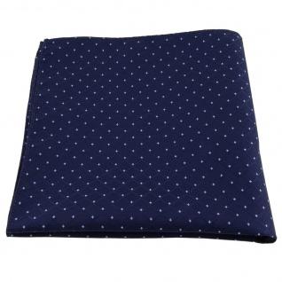 Einstecktuch in blau dunkelblau hellblau gepunktet Karomuster - Tuch Polyester