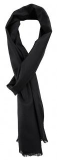 TigerTie Unisex Schal Pique in schwarz uni gemustert - Größe 180 x 28 cm