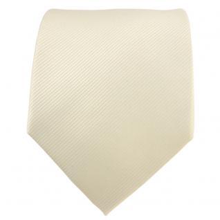 TigerTie Designer Krawatte elfenbein champagner hellbeige Uni Rips - Binder Tie - Vorschau 2