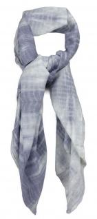 Halstuch in grau hellgrau gemustert - Größe 100 x 100 cm - 100% Baumwolle