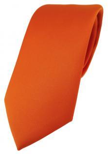 TigerTie Designer Krawatte in orange einfarbig Uni - Tie Schlips
