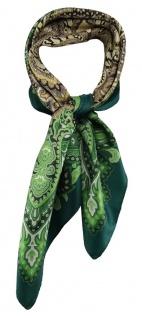 TigerTie Damen Nickituch Halstuch in grün dunkelbraun beige gold grau gemustert