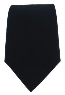 TigerTie Designer Krawatte schwarz Uni - 100% Baumwolle - Krawattenbreite 8 cm - Vorschau 2