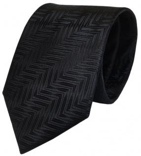 Designer Krawatte schwarz mit Muster pure Seide / Silk - Vorschau 1