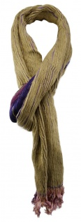 TigerTie Designer Schal in lila braunbeige gemustert - Gr. 200 x 30 cm