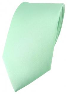 hochwertige TigerTie Satin Krawatte in mint Uni einfarbig - Schlips Binder Tie