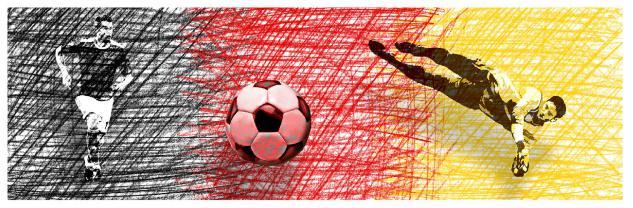TigerTie Loop Schal in rot gelb grau schwarz gemustert - Gr.160 cm x 50 cm - Vorschau 3