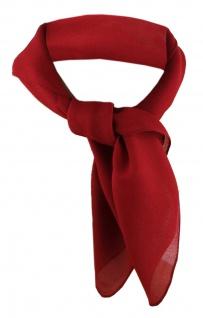 TigerTie Damen Chiffon Nickituch rot bordeaux Gr. 50 cm x 50 cm - Halstuch Schal