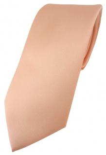 TigerTie Designer Krawatte in lachs einfarbig Uni - Tie Schlips