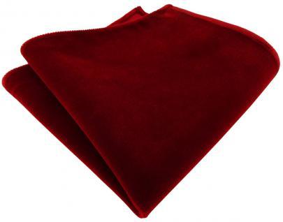 TigerTie Baumwollsamt Designer Einstecktuch in rot dunkelrot einfarbig Uni