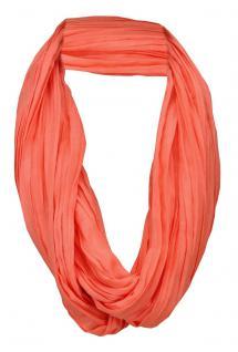 TigerTie Loop Schal rot rosé lachsrot einfarbig Uni - Schlauchschal Rundschal