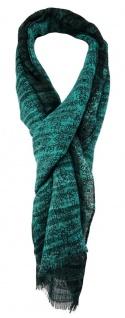 TigerTie Designer Schal in türkis dunkelgrün gemustert