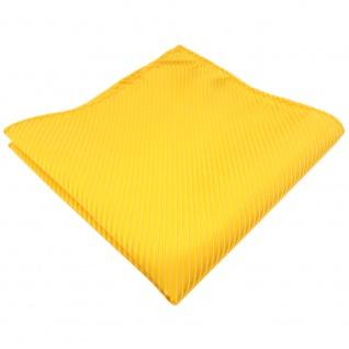 TigerTie Einstecktuch in gelb goldgelb sonnengelb gestreift - 100% Polyester
