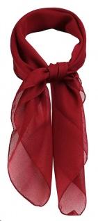 TigerTie Damen Chiffon Nickituch in weinrot einfarbig Uni - Gr. 58 cm x 58 cm