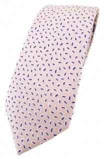 Enrico Sarto hochwertige Designer Seidenkrawatte in rosa blau silber gemustert