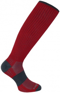 WrightSock Socke rot optimal Ski- o. Militärstiefel anti-blasen extra lang Gr.L
