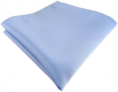 TigerTie Satin Einstecktuch in hellblau einfarbig Uni - Größe 26 x 26 cm
