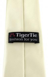 XXL TigerTie Security Sicherheits Krawatte in beige champagner einfarbig Uni - Vorschau 3