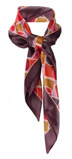 TigerTie Damen Halstuch rot flieder weinrot bronze gemustert - Gr. 66 cm x 66 cm
