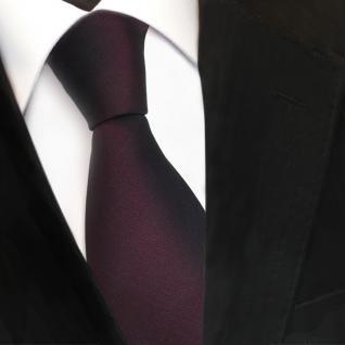 TigerTie Satin Seidenkrawatte rot schwarzrot dunkelbordeaux Uni - Krawatte Seide