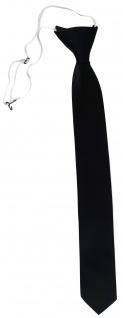 TigerTie Sicherheits Krawatte in schwarz einfarbig Uni Rips