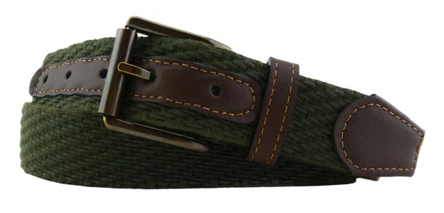 TigerTie - Stretchgürtel in grün dunkelgrün einfarbig - Bundweite 100 cm