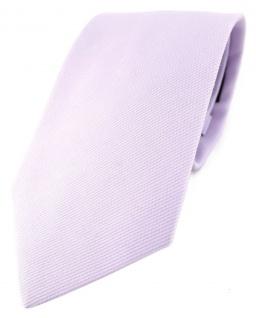 TigerTie Designer Krawatte in lila Uni - 100% Baumwolle - Krawattenbreite 8 cm