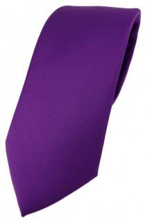 TigerTie Designer Krawatte in lila einfarbig Uni - Tie Schlips