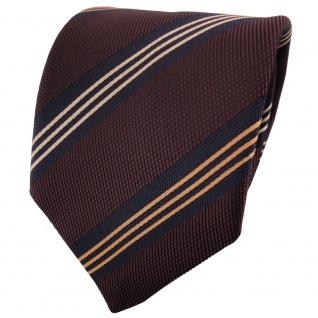 TigerTie Satin Krawatte rot schwarzrot braun schwarz gestreift - Binder Tie