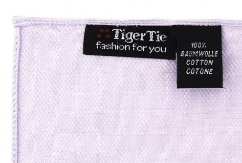 TigerTie Einstecktuch aus 100% Baumwolle in lila Uni - Einstecktuch 26 x 26 cm - Vorschau 2