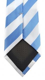 TigerTie Designer Krawatte in blau weiss gestreift - Vorschau 4