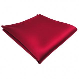 schönes TigerTie Einstecktuch rot karminrot einfarbig - Tuch Polyester