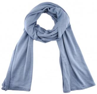 TigerTie - Schal in blaugrau einfarbig Uni - Größe 180 x 30 cm - 100% Viscose