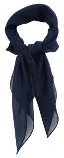 TigerTie Damen Chiffon Nickituch in dunkelblau einfarbig Uni - Gr. 58 cm x 58 cm