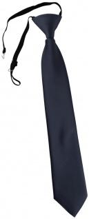 TigerTie Kinderkrawatte anthrazit Uni - Krawatte vorgebunden mit Gummizug